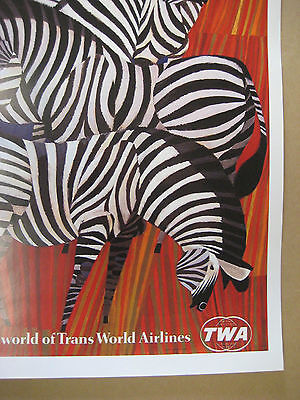 "HONG KONG B2G1F TWA  Airlines 11/"" x 17/"" Collector/'s Travel Poster Print"