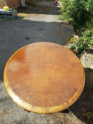 A Stunning Victorian/Early Edwardian Burr Walnut & Banded Oval Tilt Top Table 8