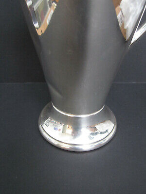 "PLYMOUTH 48-oz SILVERPLATE COCKTAIL PITCHER EPNS 3318 VINTAGE 1930'S 11""H 3"