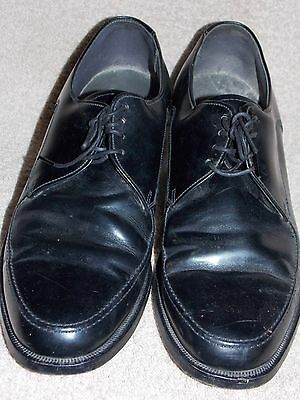 4b1a2012f5436 ... JC Penny Black Leather Vintage Plain Toe OX Shoes Men 8 D B Used 2