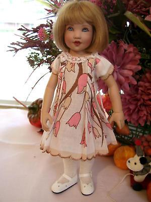 """Hanky Dress, Hat  PATTERN for 10"""" to 16"""" Dolls  Little Darling,  Bleuette, 10"""