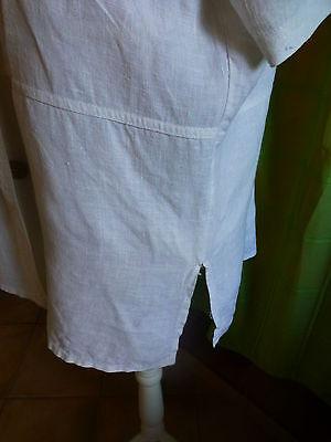 XL belle veste blanche en lin  femme ou longue mariniére 3