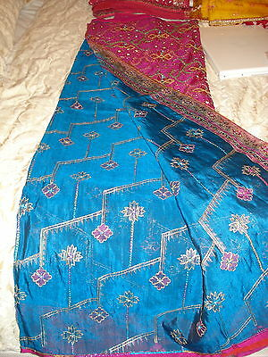 Ladies Indian Saree -Silk With Heavy Work On Pallu & Gorgeous Colour Combination 2