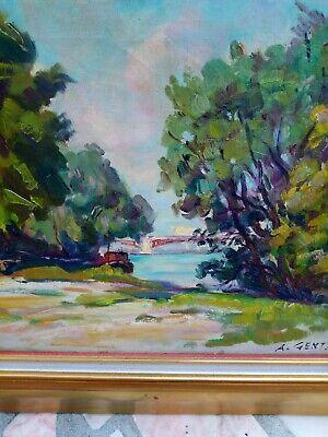 Albert GENTA (1901-1989) Huile sur toile 5