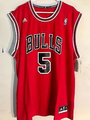 92a4983fb ADIDAS NBA Jersey CHICAGO Bulls Carlos Boozer Red sz L -  12.99 ...