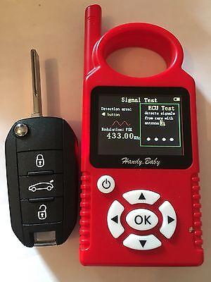 Clé Vierge Transpondeur ID46 pile Peugeot 208 308 301 2008 5008 100% Testé HU83 2