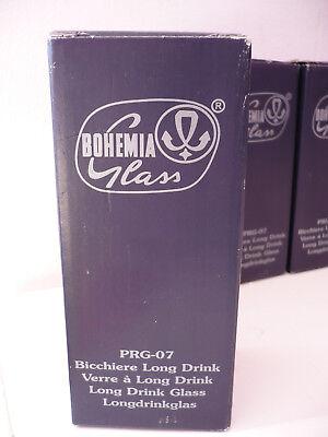 Set 6 Bicchieri Long Drink Cristallo Bohemia Glass