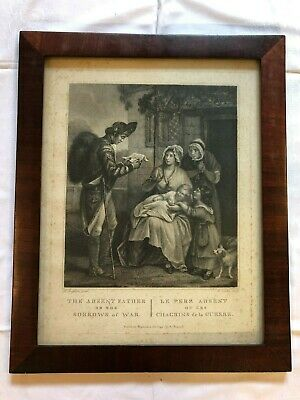 Bilderrahmen alt Biedermeier Mahagoni Holz Lithographie Belgien um 1820 2/2 4