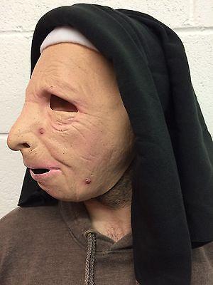 9ed3920bf ... The Town Nun Mask Latex Halloween Fancy Dress Costume Habit Old Woman  Female 3