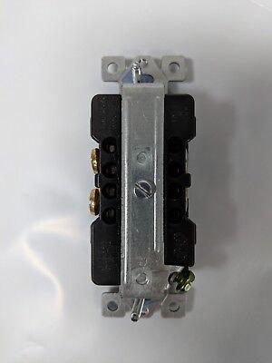 (20 pc) Decorator Duplex 20A Receptacles 20 Amp Decora Outlets Black Commercial 3