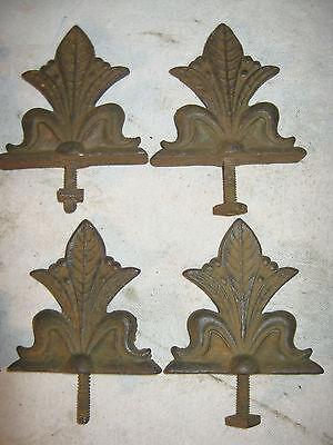 8 Antique Architectural Hardware Plant Flower Garden Cast Iron Fence Gate Fineal 3
