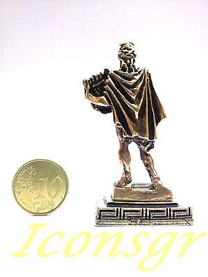 Ancient Greek Miniature Olympian God Pantheon Sculpture Statue Zamac Apollo Gold 3