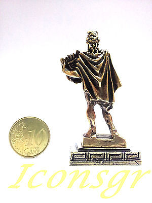 Ancient Statue Apollo Greek Miniature Olympian God Pantheon Sculpture Zamac Gold 3