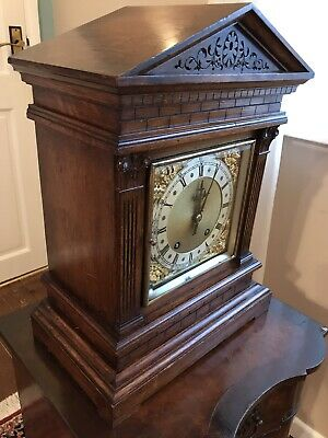 Antique Bracket Clock Winterhalder & Hofmeier Ting Tang Clock 2