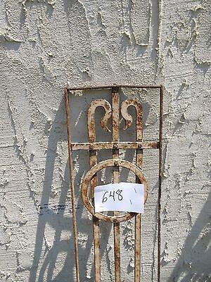 Antique Victorian Iron Gate Window Garden Fence Architectural Salvage Door #648 3