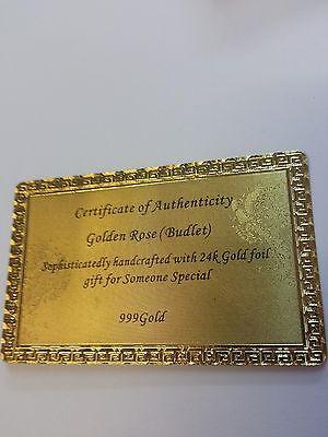 ROT Goldene Gold Rose Valentinstag Geburtstag Jahrestag Hochzeit Liebes Geschenk
