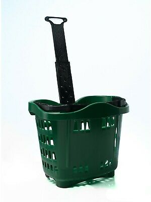 Plastic Wheeled Shopping Trolley Basket  - 43 Litre Various Colours 3
