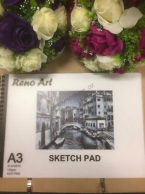 A3 Sketch Pad 140gsm Atrist Painting Art Paper Sketchbook  Drawing Craft Pastel 3