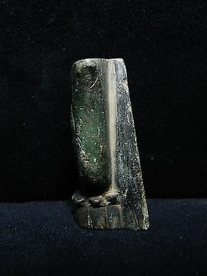 Zurqieh - Ancient Egypt, Green Stone Crown Of Isis, 600 - 300 B.c