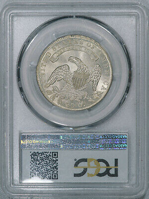 1836 PCGS MS63 Bust Half, lustrous very light toned eye appealing coin, R-4 var. 3