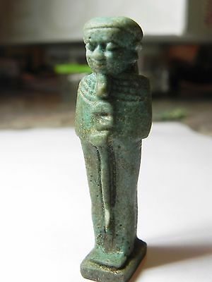 Zurqieh - Af811- Ancient Egypt , Huge Faience Ptah Amulet - Perfect. 600 - 300 B