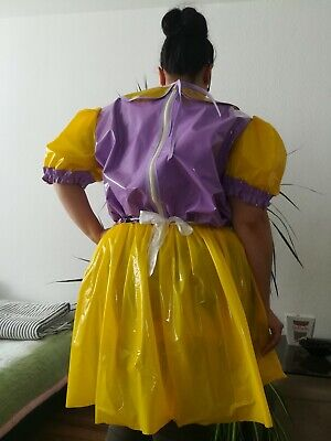 Adult Baby Kleid  INTEGRIERTE Windelhose Sissy PVC LACK Diaper Plastik L- XL 6