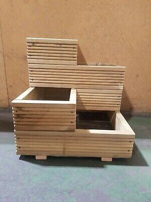 Handmade Large Corner Decking 4 tier wooden garden planter 2