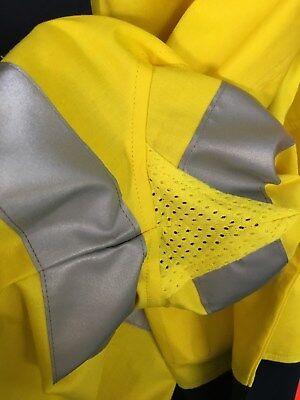 5 x Hi Vis Work Shirt vented cotton drill long sleeve SAFETY WORKWEAR UNIFORM 7