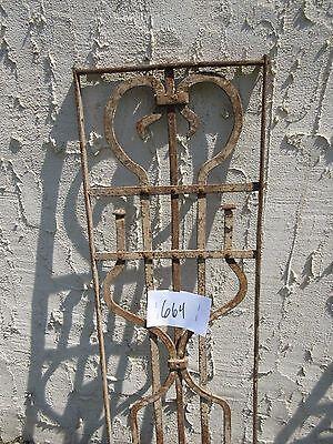 Antique Victorian Iron Gate Window Garden Fence Architectural Salvage Door #664 3
