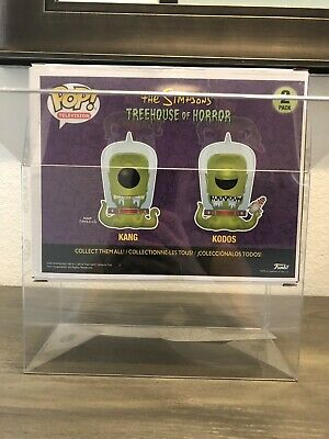 1 KANG & KODOS Funko Pop! 2-Pack Vinyl 0.50mm Box Protector Acid Free Clear Case 12