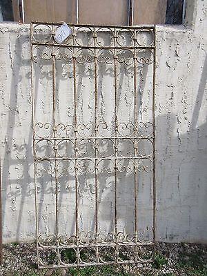 Antique Victorian Iron Gate Window Garden Fence Architectural Salvage Door #347 5
