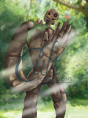 Studio Ghibli Laputa Castle in the Sky Guardian Robot fan art signed print 3