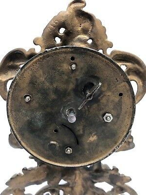 Antique Cherub Strut Easel Cherub Mantel Bracket Clock