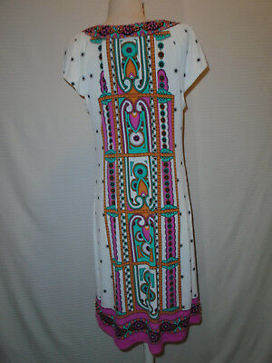 ECI Womans Multi Color Floral Beaded Dress Size 10 5