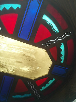 Round Symbols  Stained glass window (SG 1437) 8