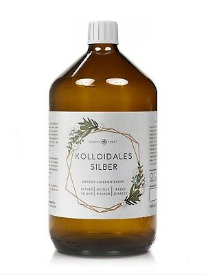 Kolloidales Silber (Silberwasser), 50 ppm in Apotheker-Glasflasche (250-1000 ml) 2