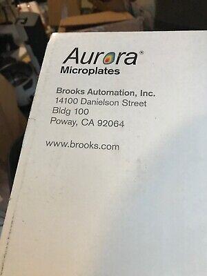 Brooks Aurora Microplates Mako 1536 White Plate Solid Bottom 00028778 New 3