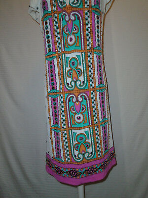 ECI Womans Multi Color Floral Beaded Dress Size 10 3