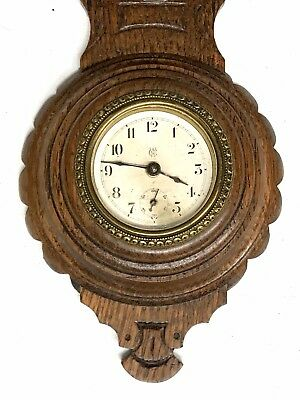 Lovely Waterbury Clock Co Barometer Shaped Clock American 2