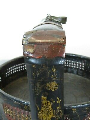 Bamboo Food Basket with Hand Painted Handle 7