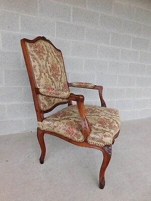 Quality Vintage French Louis XV Style Fireside Accent Arm Chairs  - a Pair 10