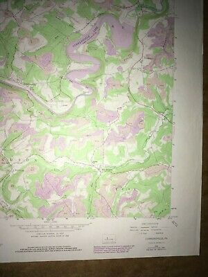 Curwensville Pa. Clearfield USGS Topographical Geological Survey Quadrangle Map 5