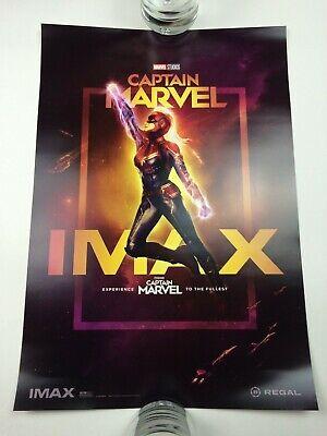 Captain Marvel 13 x 19 Poster Regal IMAX Week 1 Brie Larson Goose 2019 2