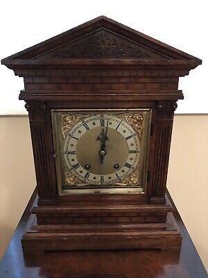 Antique Bracket Clock Winterhalder & Hofmeier Ting Tang Clock 5