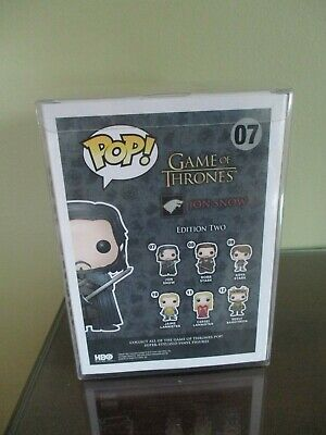 Funko Pop! Game of Thrones Bloody Jon Snow #07 Hot Topic With Protector 3