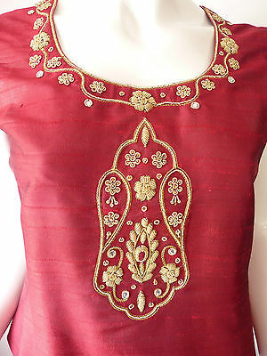 Asian Wedding Red Lengha & Dupatta     (M)  Uk 8/10  Ret £650    Bnwt 9