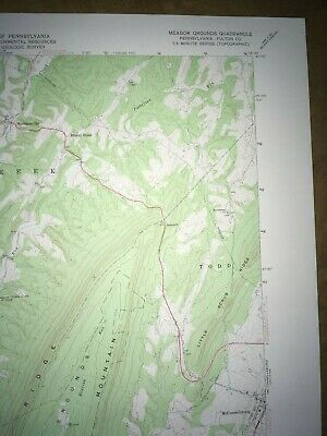 Meadow Grounds PA. Fulton USGS Topographical Geological Survey Quadrangle Map 3