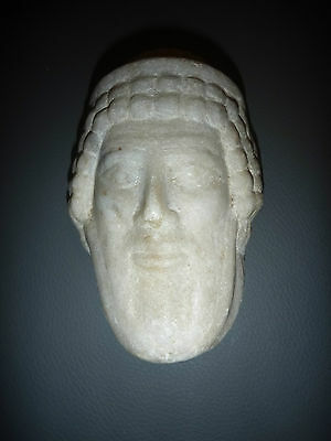 A Roman / Greek   Marble Head Of Hermes ? Propylaios  ??  Circa 1St Century B.c. 3