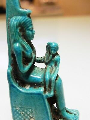Zurqieh - As10013- Ancient Egyptian Large Faience Isis, Stunning. 600 - 300 B.c 2
