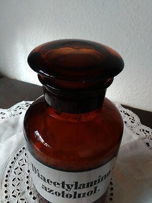 Apothekerflasche;Diacetylamino azotol;1 ltr.;braunglas;geschl. Stöpsel;Loft;Deco